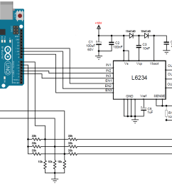 brushless dc motor control with arduino and l6234 driver simple [ 2138 x 1055 Pixel ]