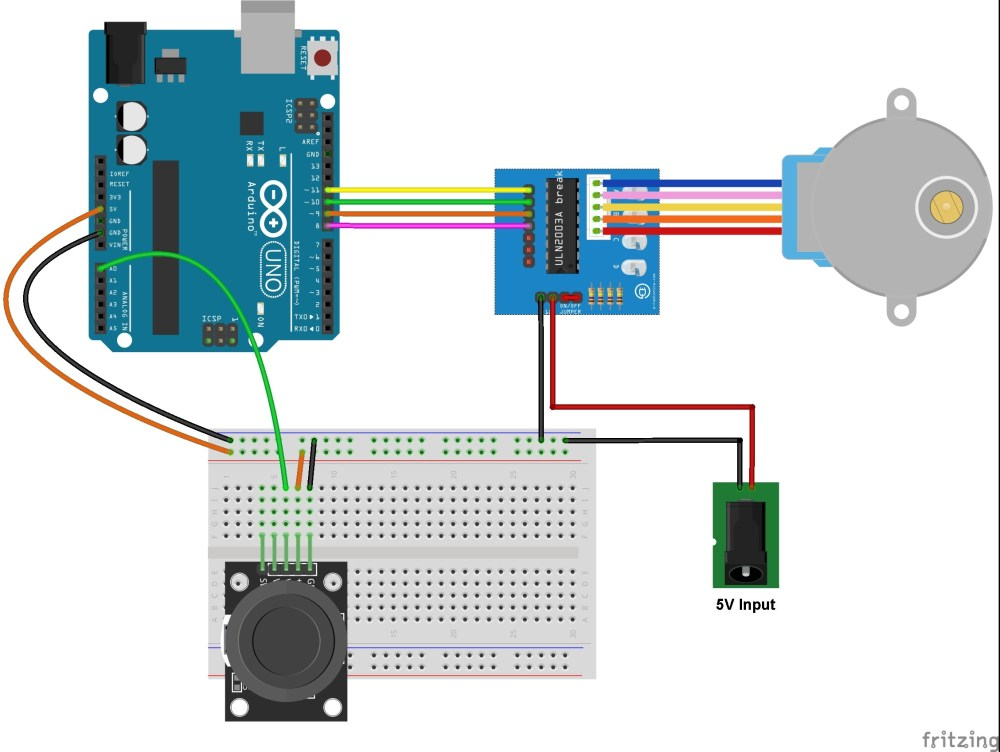 medium resolution of stepper motor control with arduino and joystick