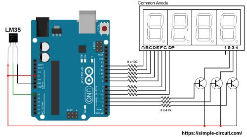 small resolution of interfacing arduino with lm35 sensor and 7 segment display arduino 7 segment display on digital temperature sensor schematic