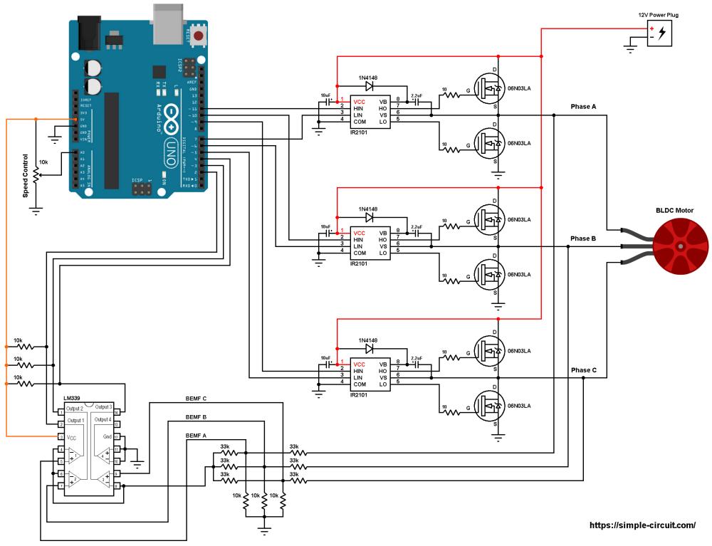 medium resolution of arduino brushless dc motor speed control circuit