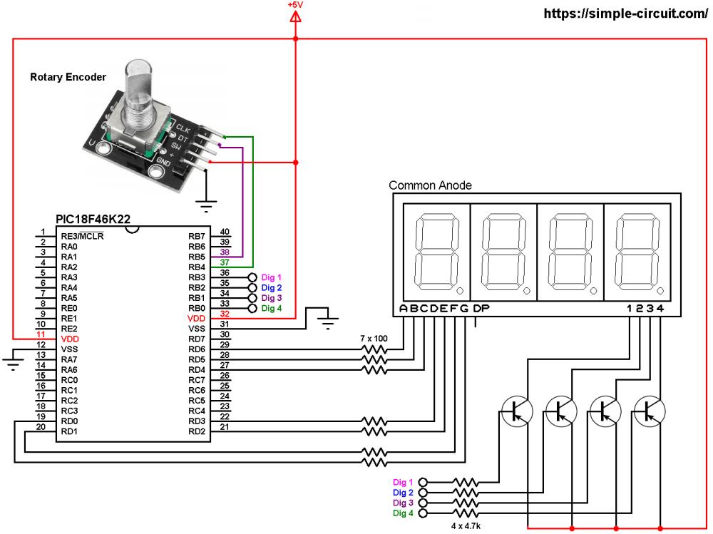 medium resolution of print rotary encoder values on 7 segment display with pic18f46k22 rotary encoder display circuit rotary encoder display schematic