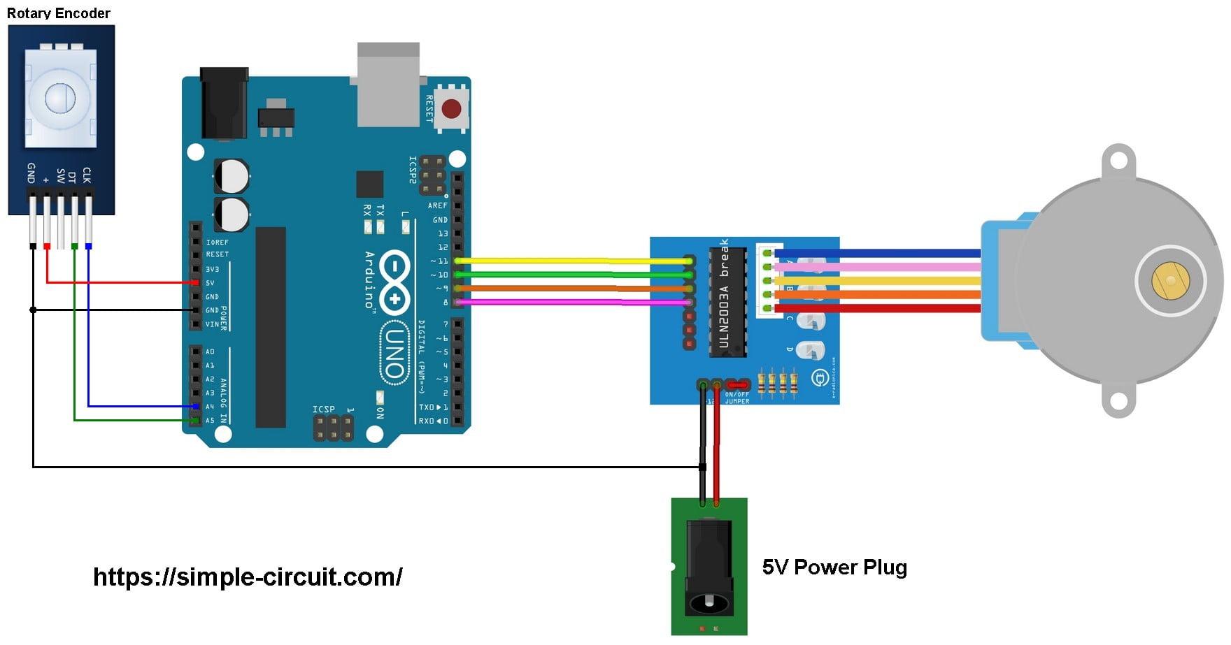 hight resolution of arduino stepper motor rotary encoder control