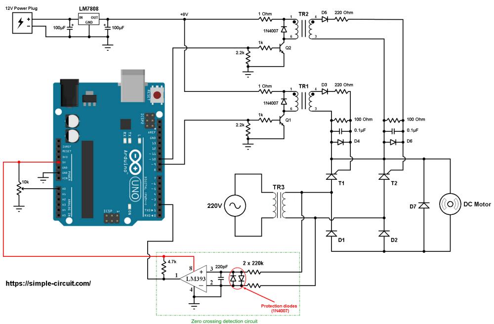 medium resolution of arduino dc motor control bridge rectifier thyristor