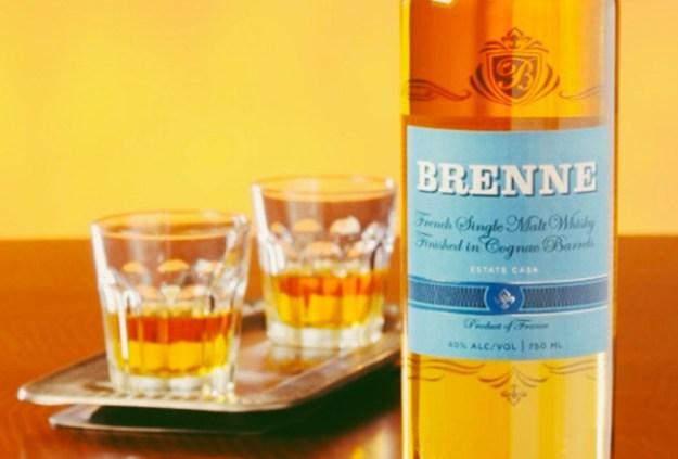brenne bottle and glasses