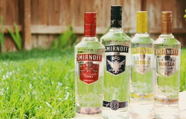 smirnoff vodka product line