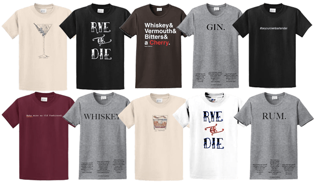 simple cocktails store shirts