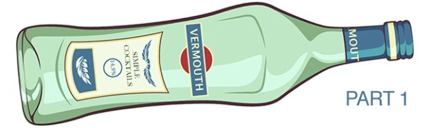 vermouth bottle illustration part 1