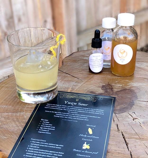 yuzu sour cocktail