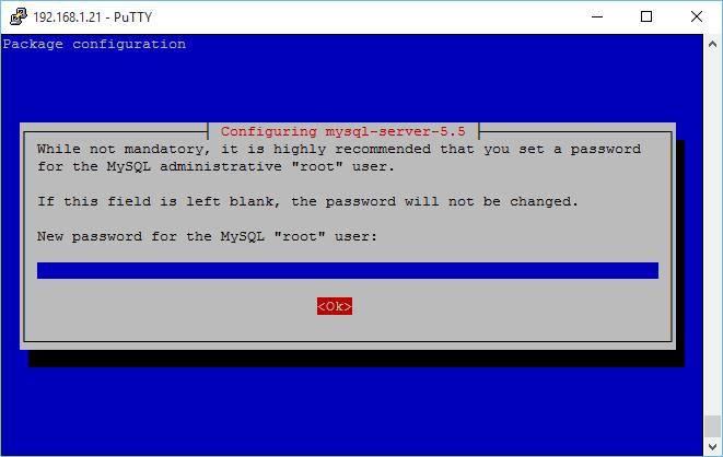 Demande de mot de passe lors de l'installation de MySQL