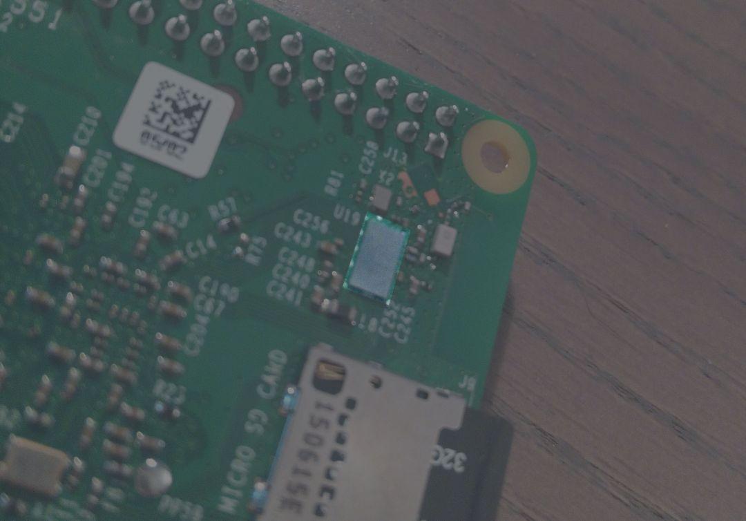 Zoom sur la puce wifi du Pi 3