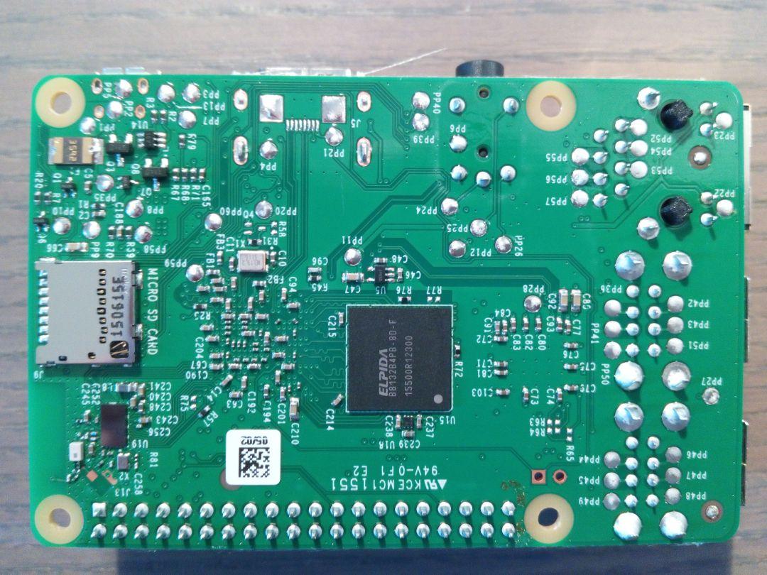 Raspberry Pi 3 de dessous