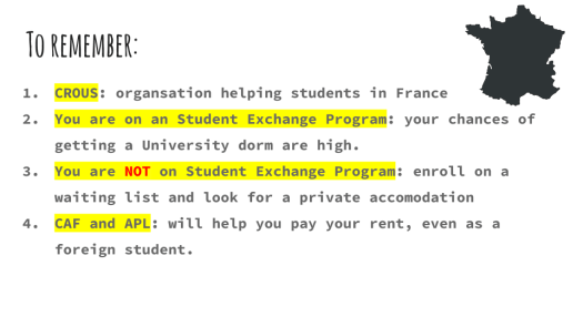 How to Get a Student Accomodation in France (1)