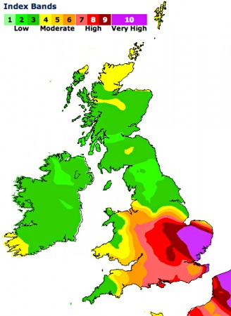 incoming pollution aleart from DEFRA