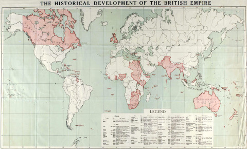 The British Empire in 1915, when the sun didn't set on it. Sic transit gloria mundi and all that...