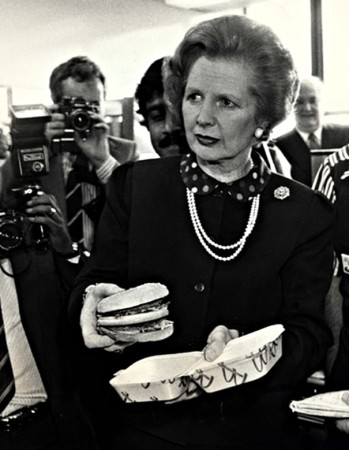 Thatcher was no fool - she opened Mickey D's HQ but she didn't take a bite out of this Big Mac :)
