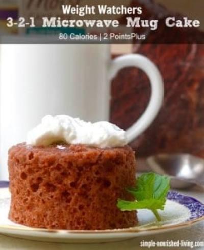 Weight Watchers 3-2-1 Microwave Mug Cake Recipe