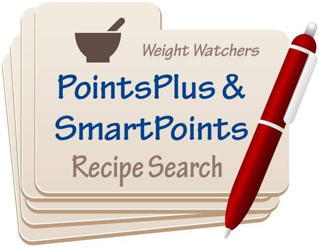 weight watchers pointsplussmartpoints recipe search
