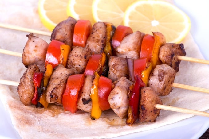 New Mexican Pork Kebabs for Two