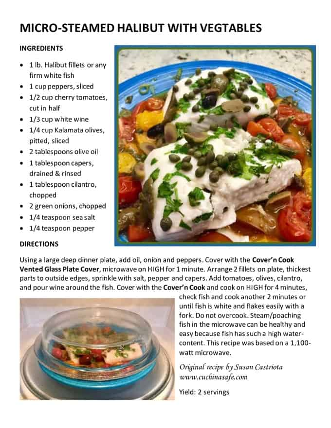 Microwave Steamed Halibut Recipe