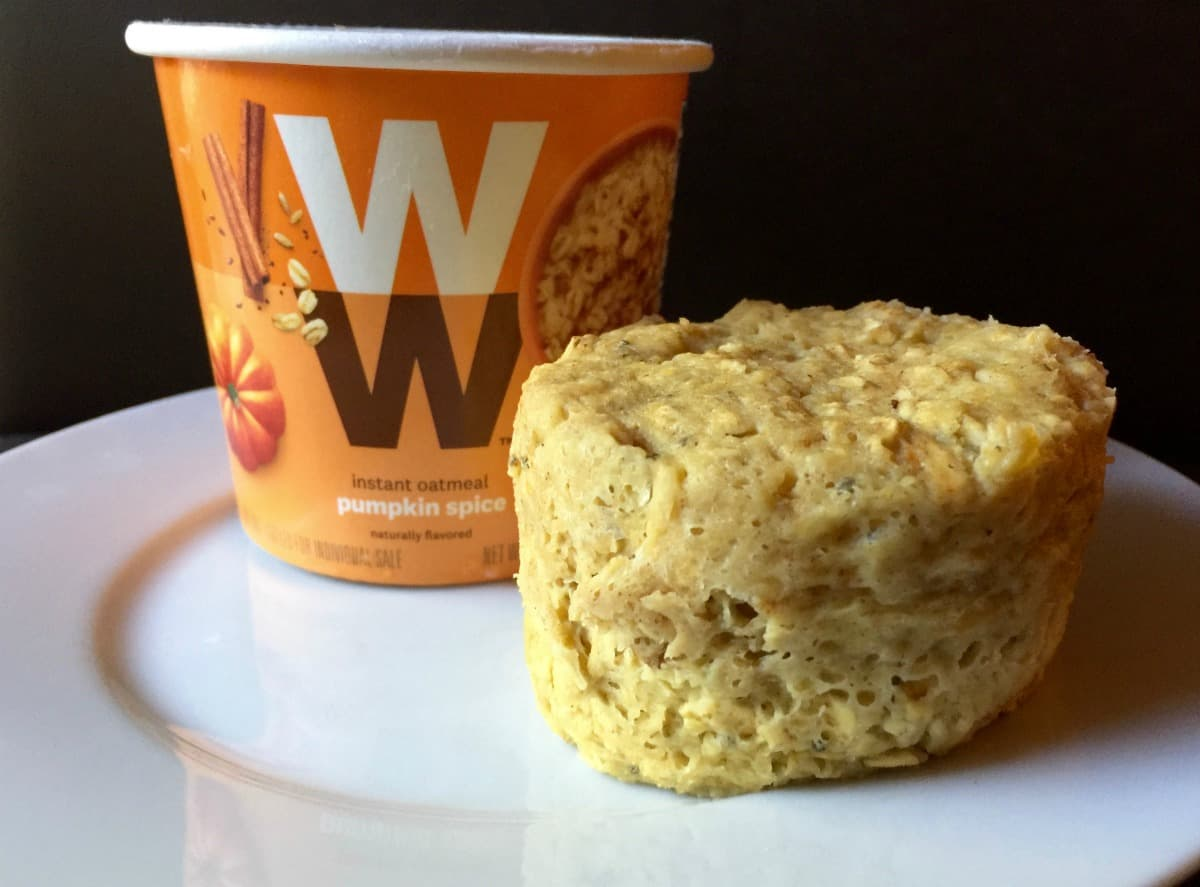 ww instant oatmeal microwave baked muffin