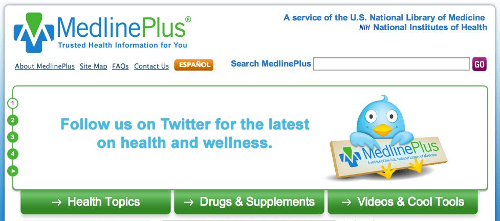 The MedlinePlus website