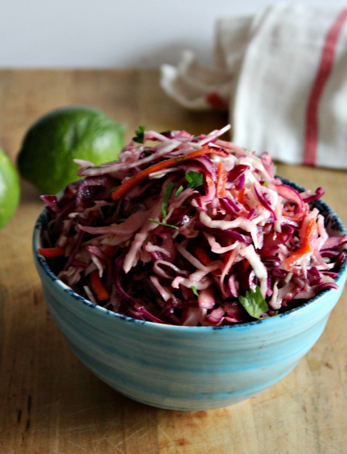 No Mayo ColeSlaw Simple and savory.com