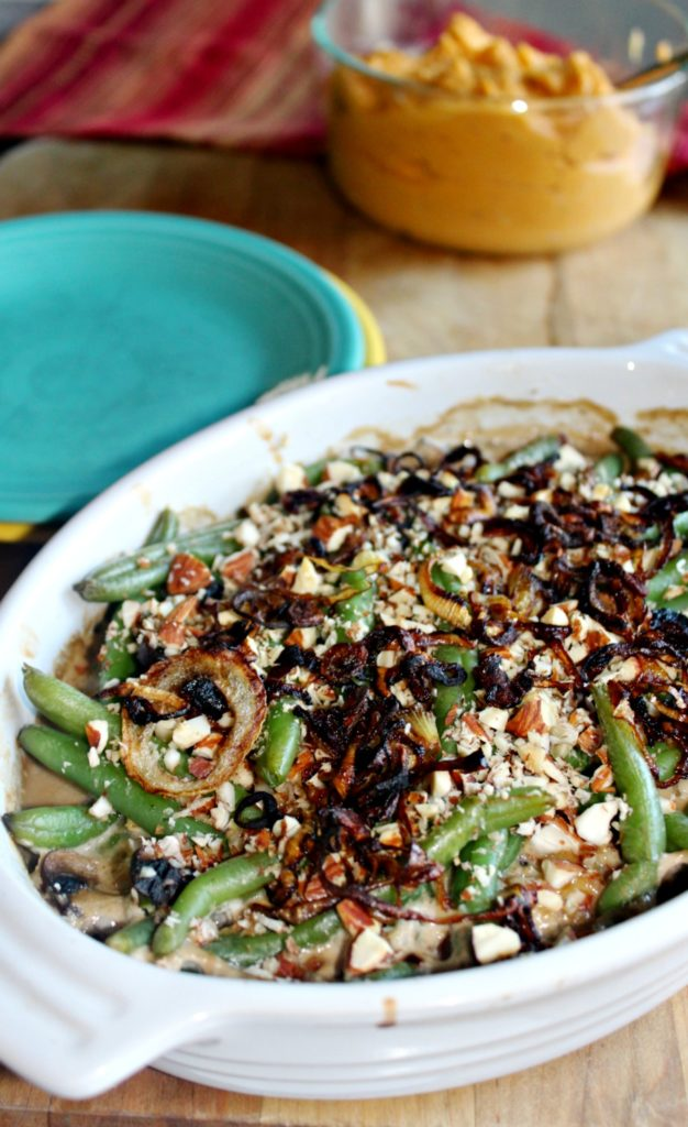 Classic Green Bean Casserole Lightened Up