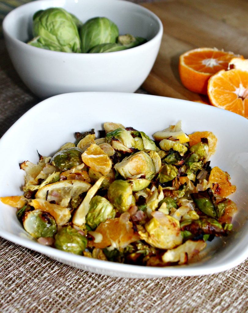 Citrus Roasted Brussels Sprouts