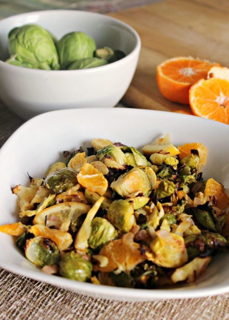 Citrus Roasted Brussel Sprouts
