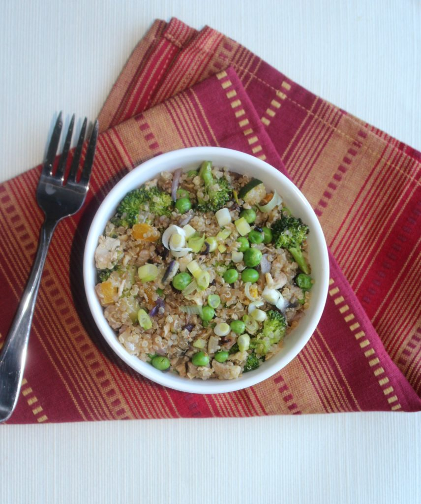 Whats in the fridge fried rice with chicken Simple and Savory