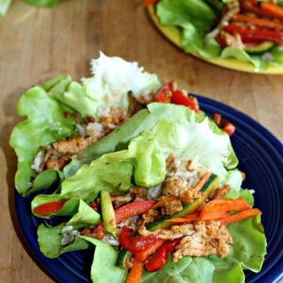 Asian Chicken Lettuce wraps, gluten free low carb