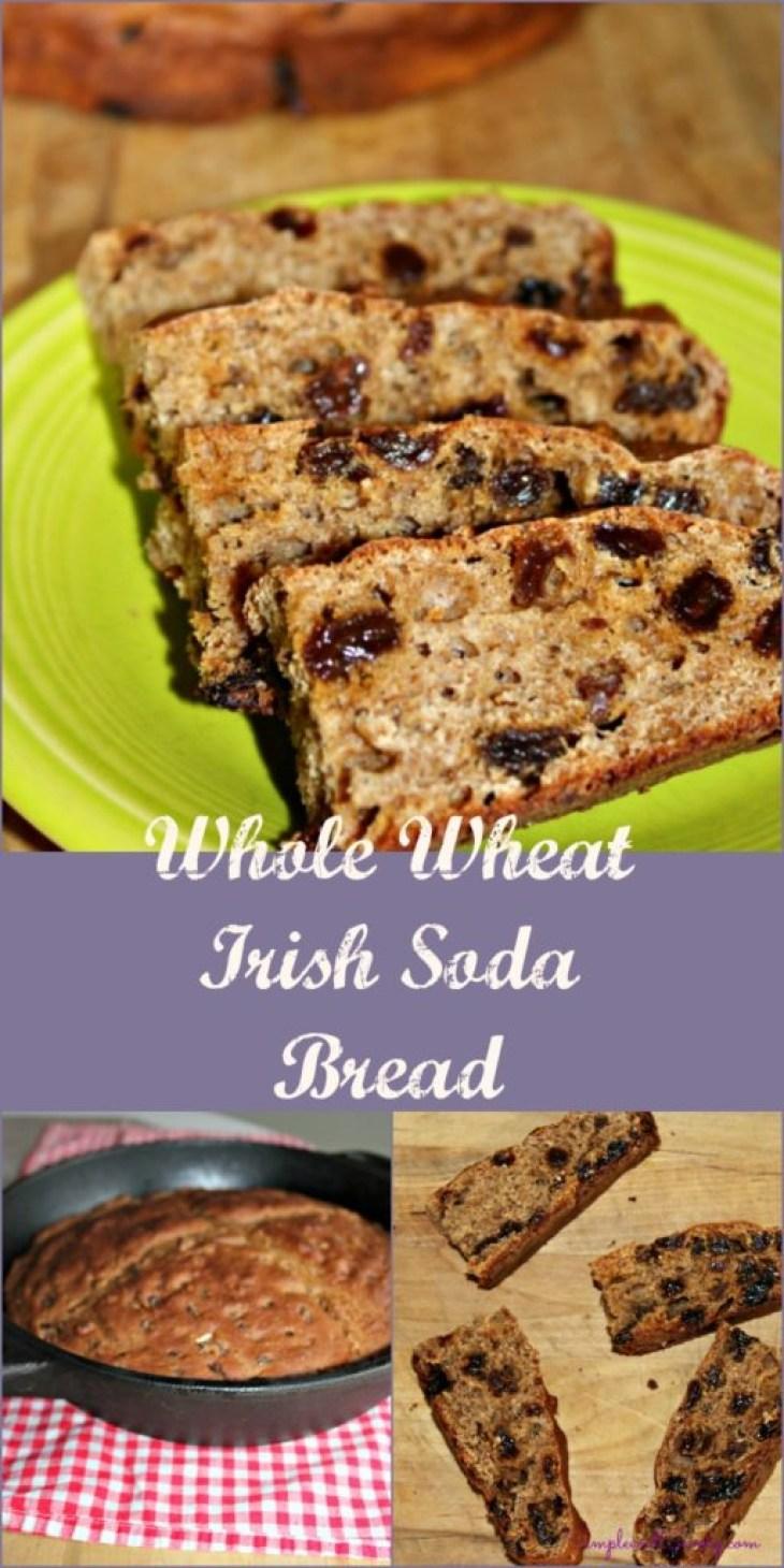 Irish Soda Bread Made Healthy with whole wheat flour
