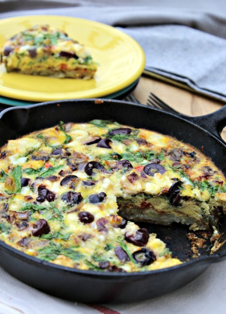 One Pan Mediterranean Quiche - Simple And Savory