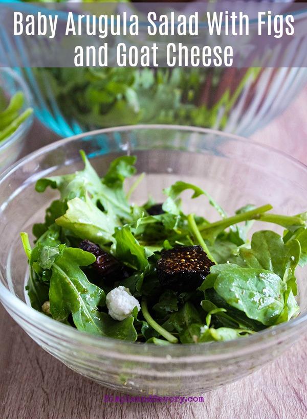 #simpleandsavory arugula salad #gluten-free #vegetarian