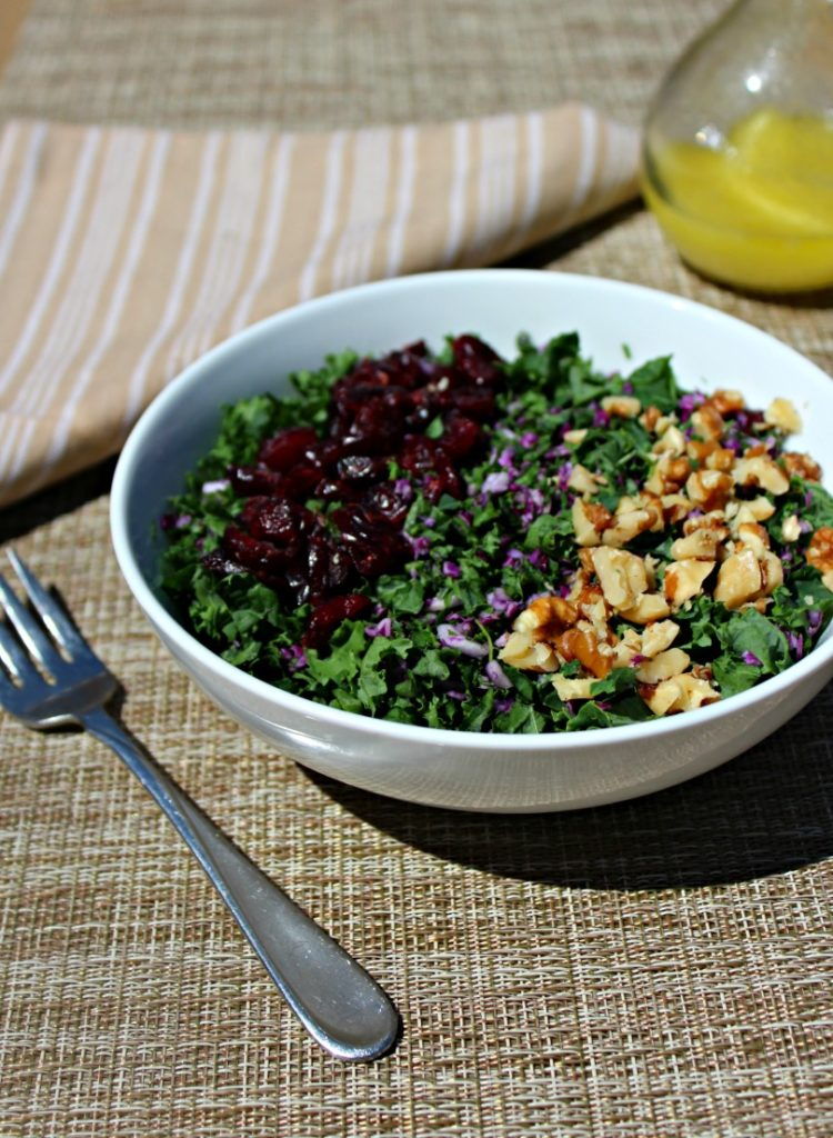 Kale Salad with cabage Simple and Savory