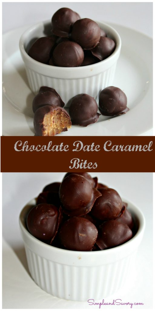 chocolate caramel date bites simpleandsavory.com