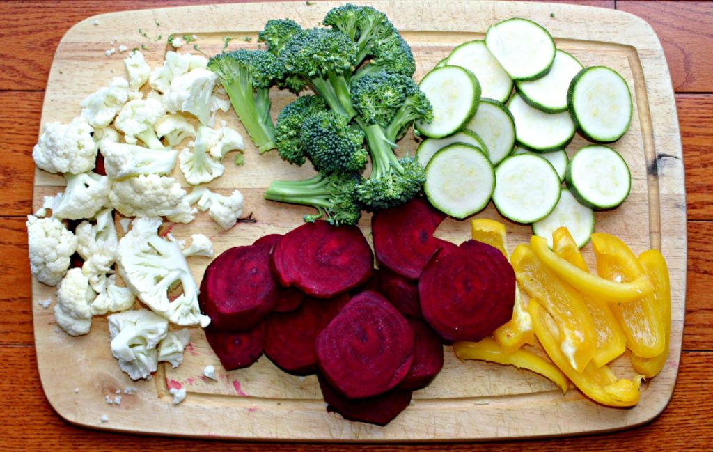 roasted veggie platter ingredients simple and savory.com