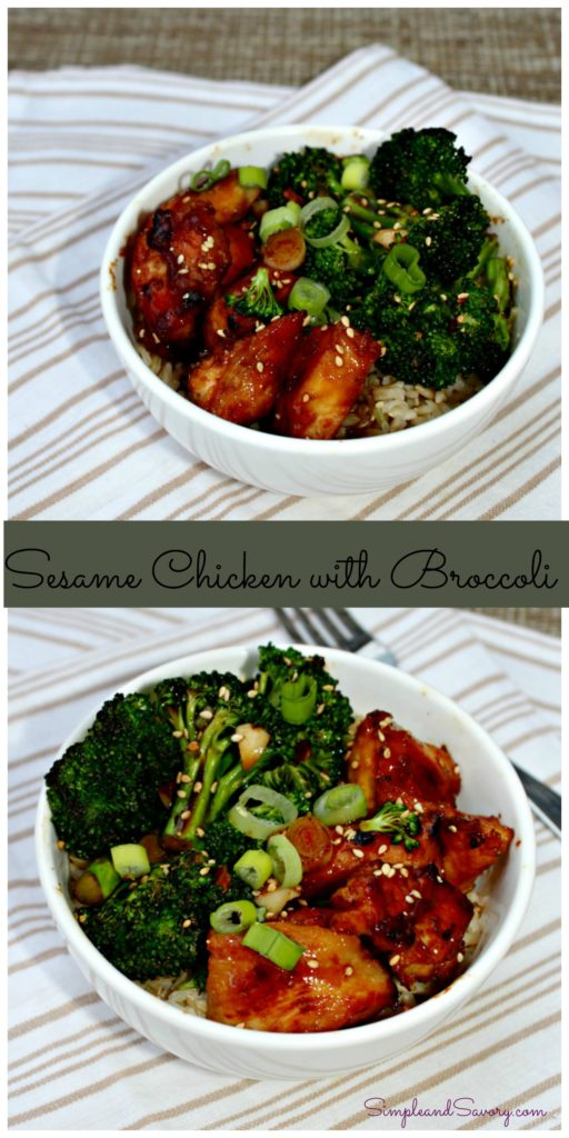 sesame chicken with broccoli and rice simple and savory.com