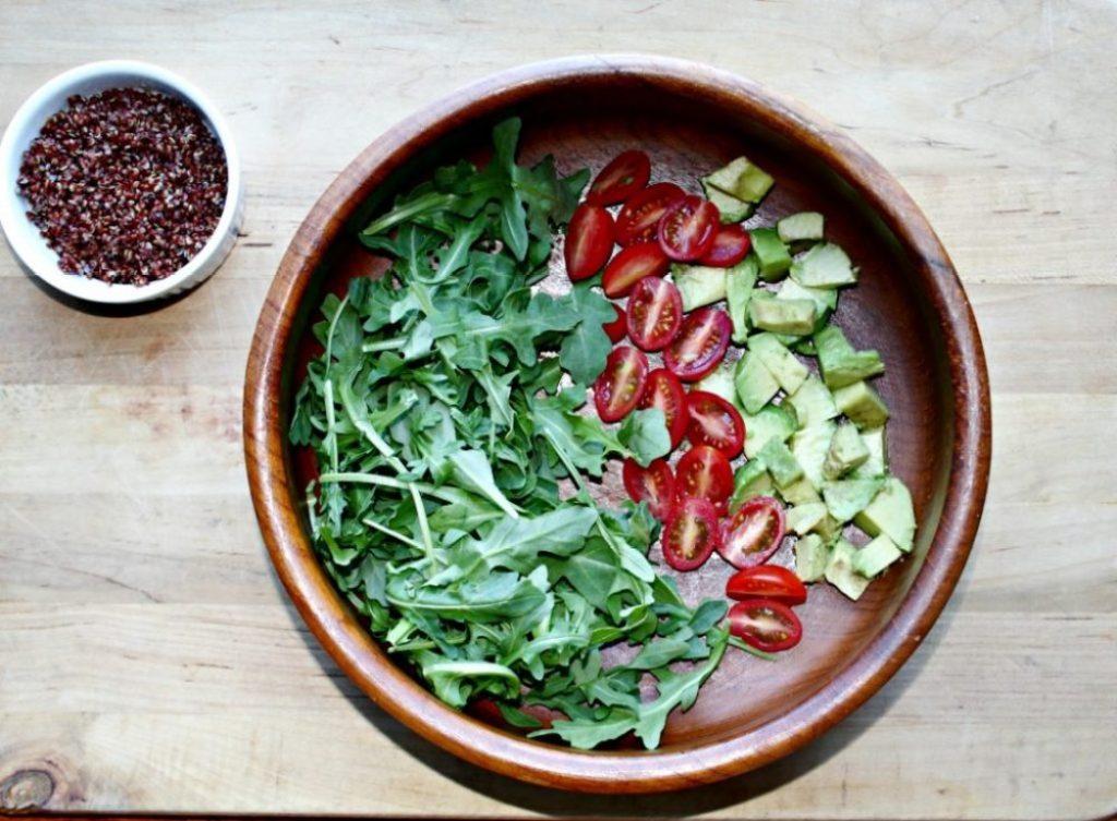Arugula Salad ingredients Simple and Savory.com