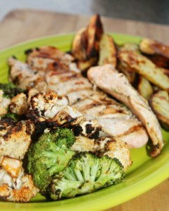 Grilled Veggies and chicken Simple and savory.com