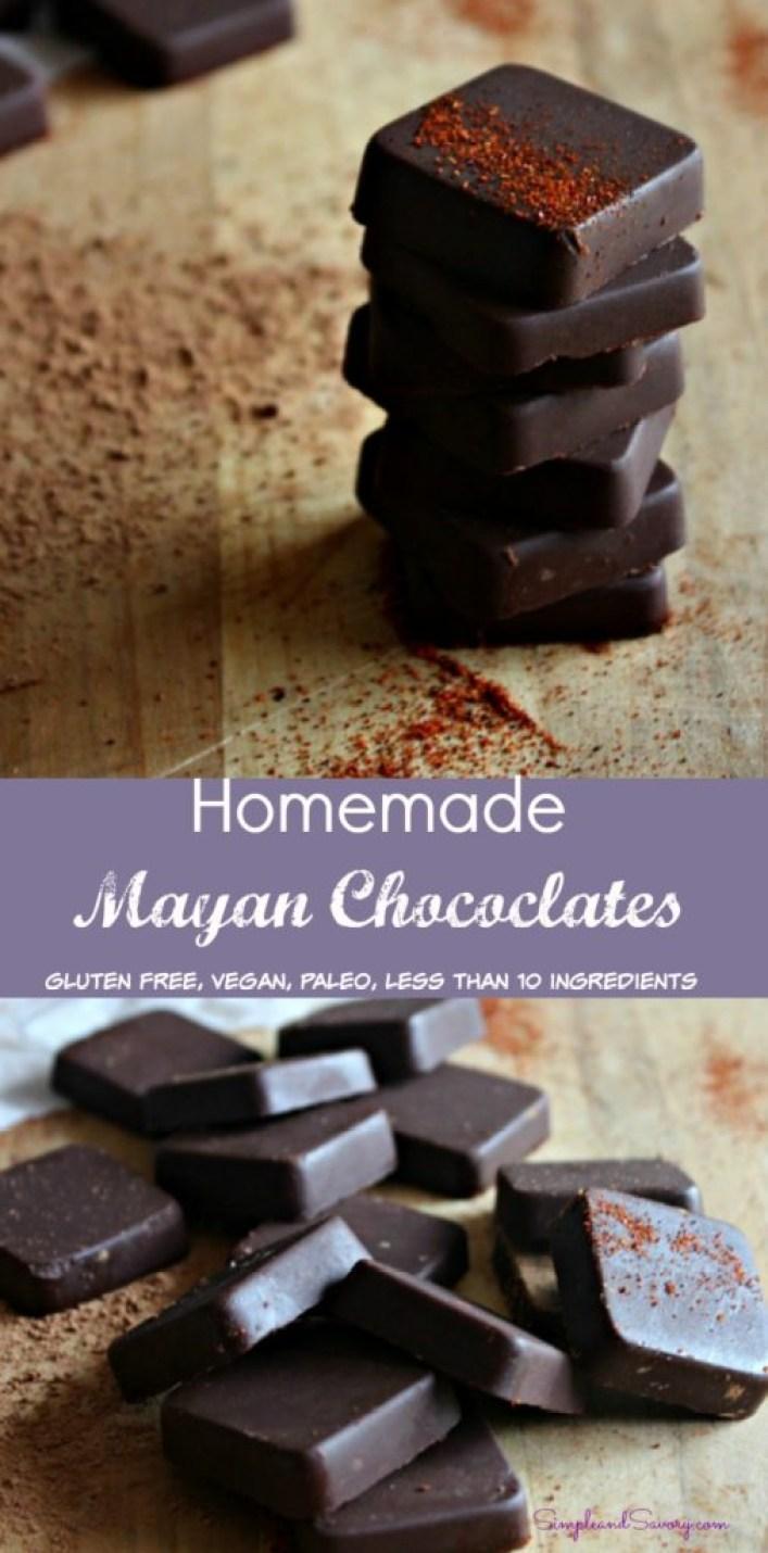 Homemade Mayan Chocolates gluten free, vegan, paleo, simpleandsavory.com