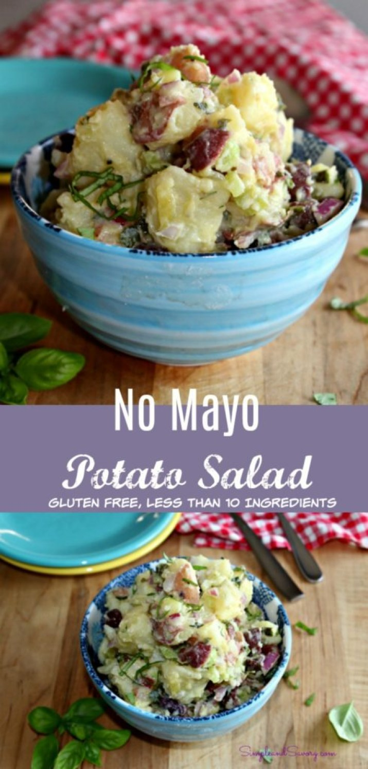 no mayo potato salad gluten free less than 10 ingredients