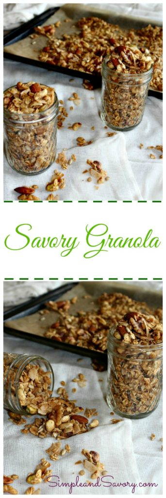 Savory Granola healthy and gluten free snack Simpleandsavory.com