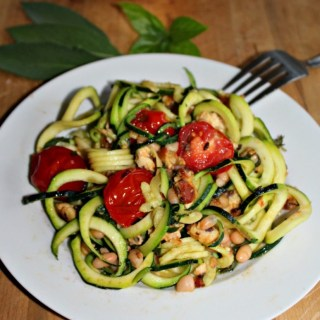 zucchini noodles with white beans and tomatoes low carb gluten free