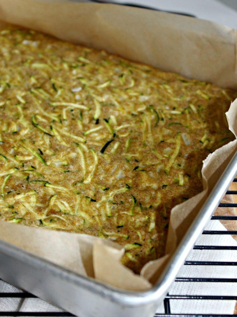 Savory zucchini baked cake simplenadsavory.com