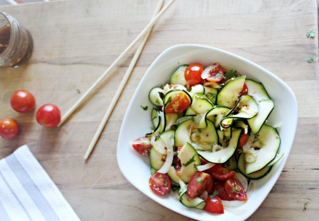 Spicy Asian Zucchini Salad Simple and Savory.com