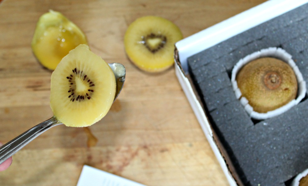 kiwifruit scooped out