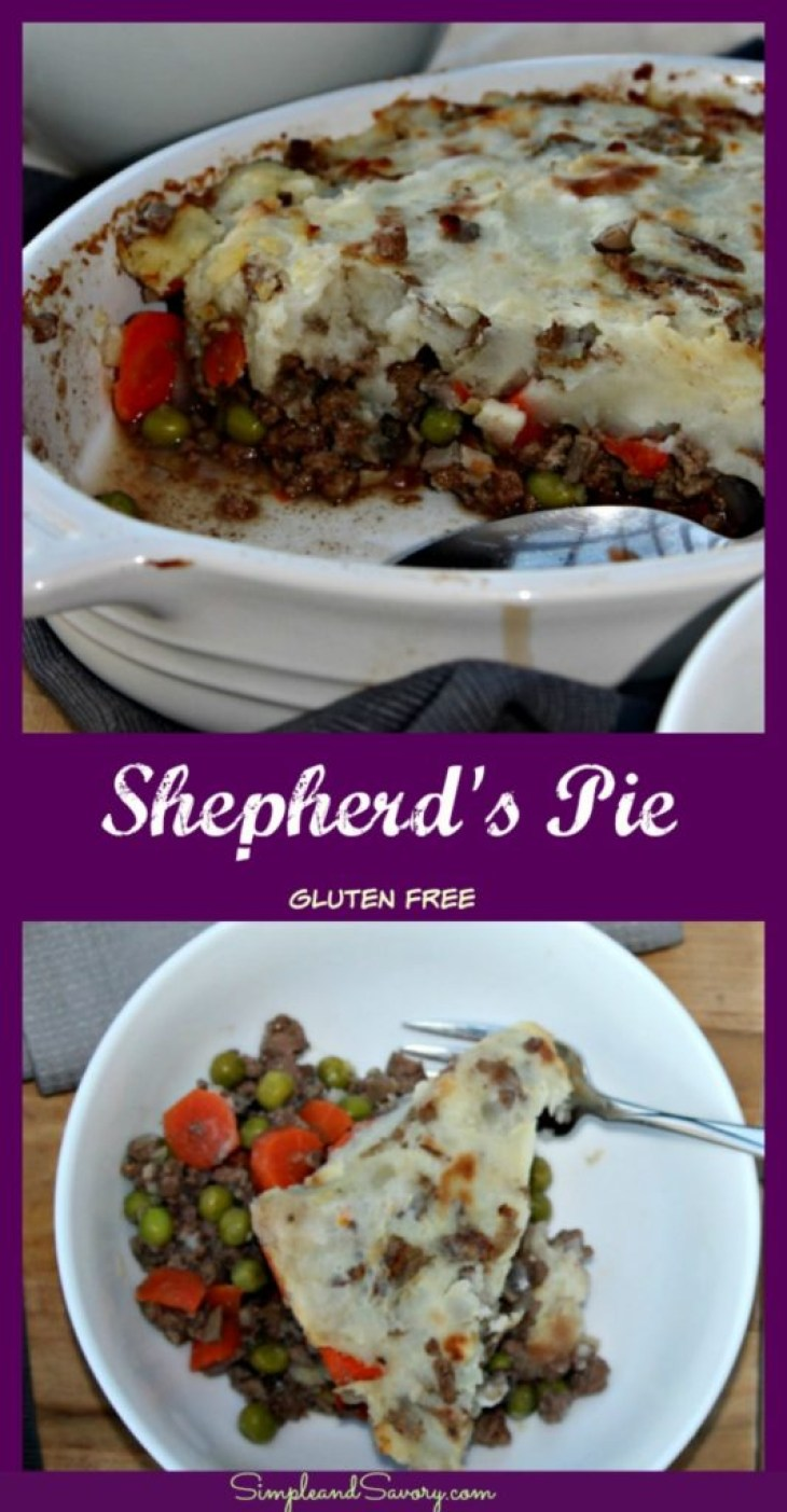 Shepherd's Pie made with lean ground beef and vegetables