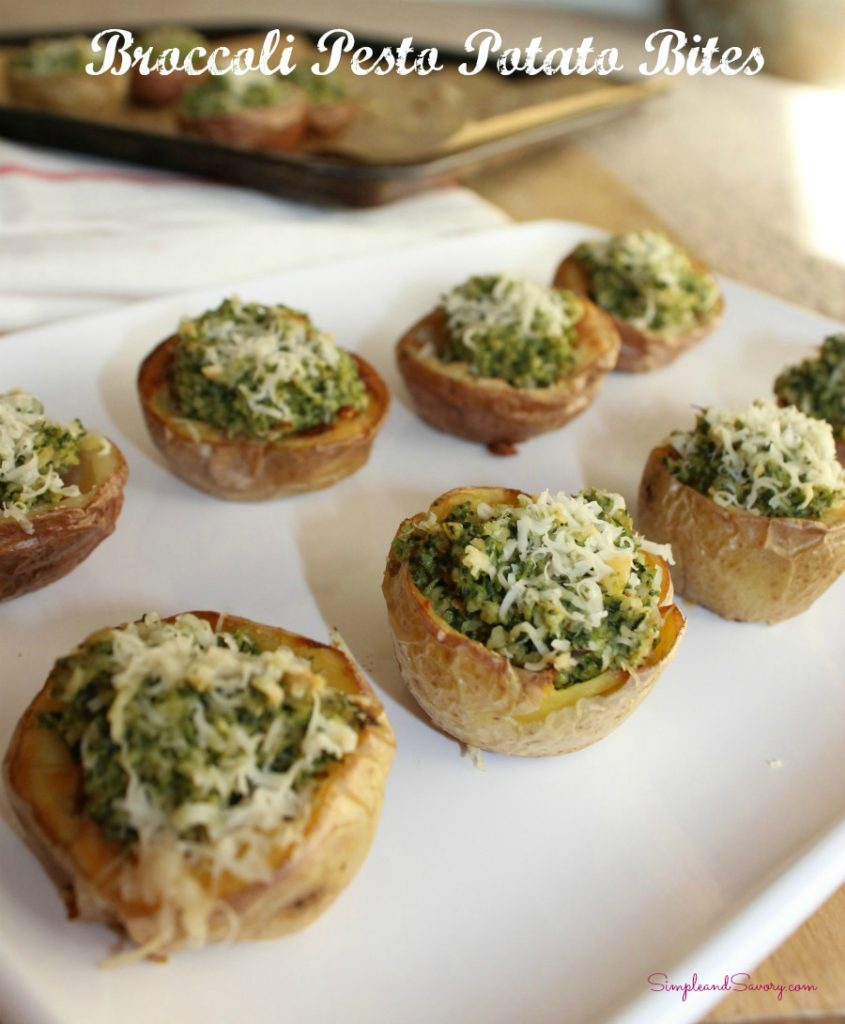 Broccoli Pesto Potato Bites