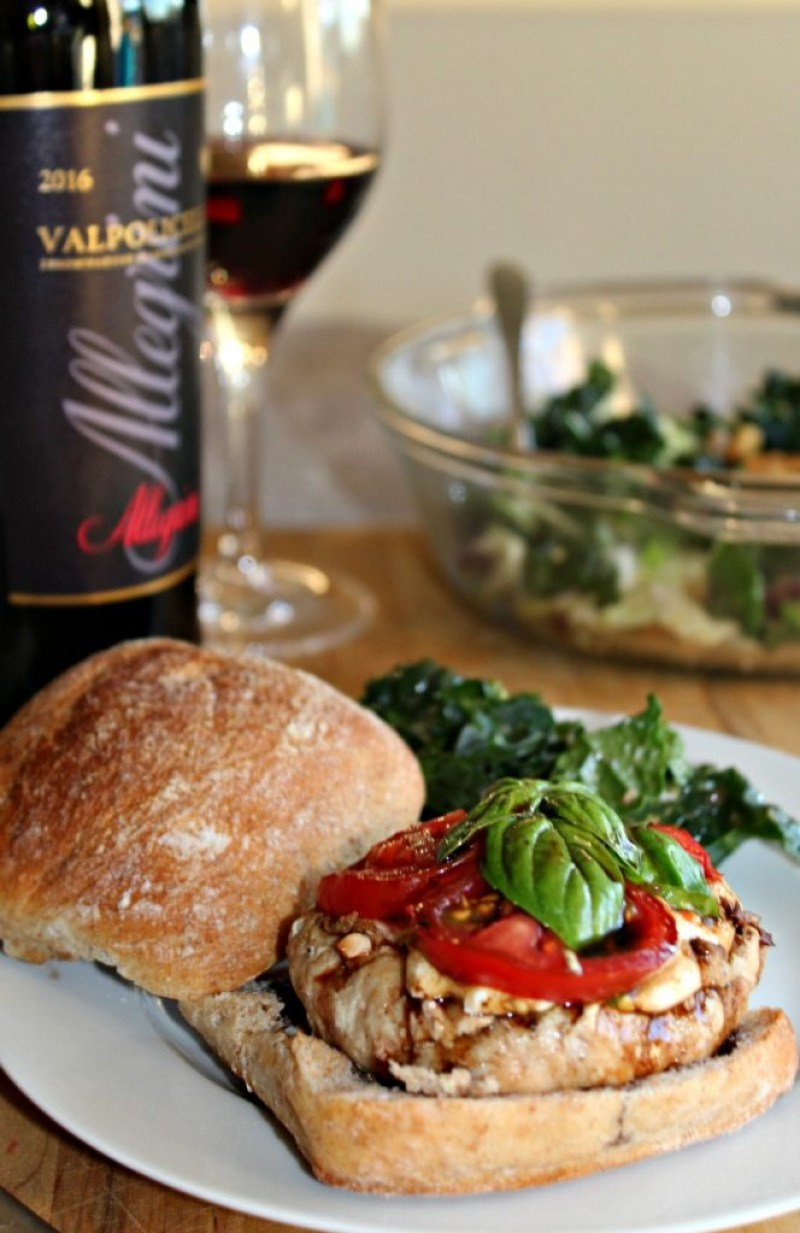 Balsamic Caprese Chicken burger simple and savory